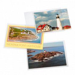 Pochettes de protection pour cartes postales modernes, 150 x 107 mm.