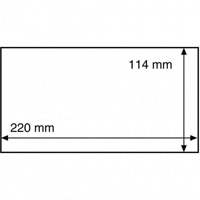 Pochettes de protection pour enveloppes format C6 long.