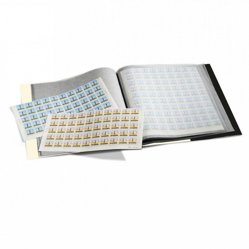 Cahier pour 24 feuilles entières de timbres 250 x 300 mm.