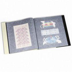Cahier pour 24 feuilles entières de timbres 340 x 370 mm.