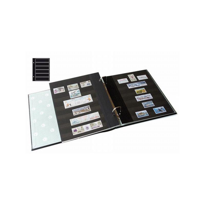 Recharges Futura Yvert à 6 bandes noires pour timbres-poste. (C80)