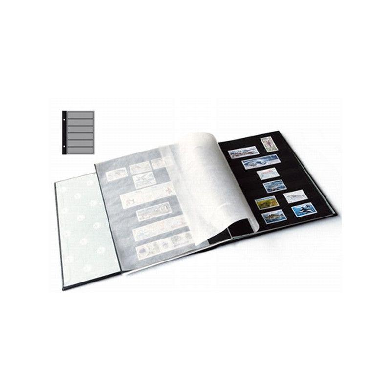Recharges Futura Yvert à 6 bandes noires pour timbres-poste. (C50)