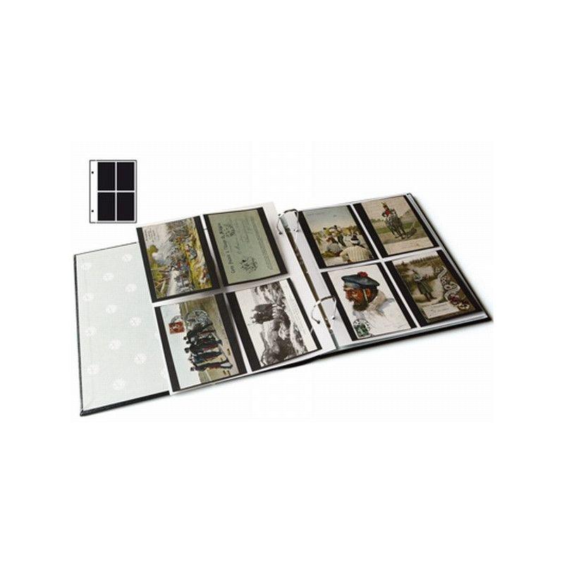 Recharges Futura Yvert à 4 poches pour blocs, cartes postales. (C40)