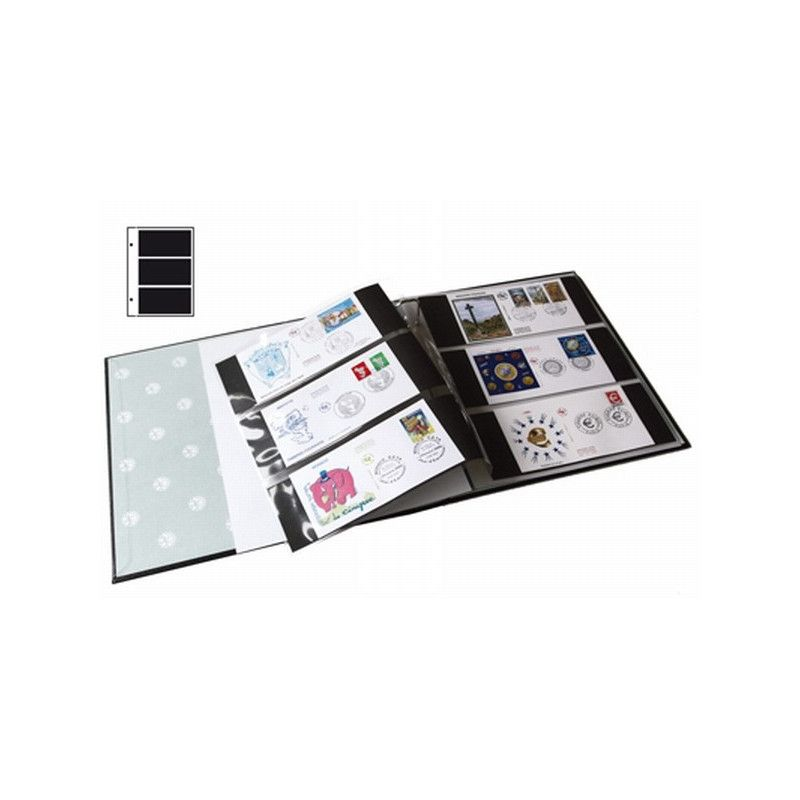Recharges Futura Yvert à 3 poches pour cartes premiers jours, billets. (E3)