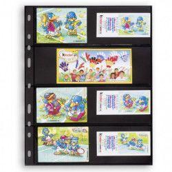 Recharges noires Optima à 4 bandes pour timbres-poste.