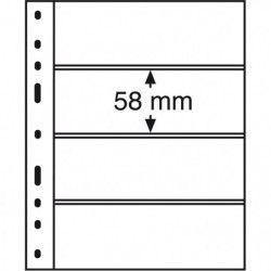 Recharges transparentes Optima à 4 bandes pour timbres-poste.