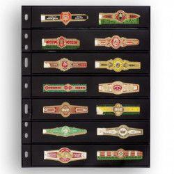 Recharges noires Optima à 7 bandes pour timbres-poste.