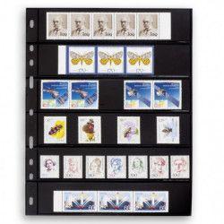 Recharges noires Optima à 6 bandes pour timbres-poste.