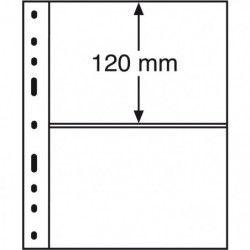 Recharges transparentes Optima à  2 bandes pour cartes postales, lettres.