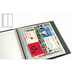 Recharges transparentes Supra Yvert à 2 bandes verticales pour carnets de timbres.