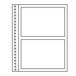 Recharges Régent-Supra Yvert à 2 poches pour blocs, cartes postales.