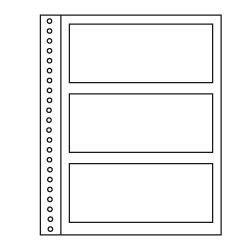 Recharges Régent-Supra Yvert à 3 poches pour blocs, bandes de timbres-poste.