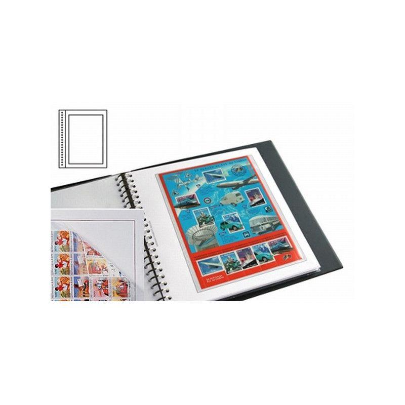 Recharges neutres Duo-Supra Yvert à 1 poche pour feuillets de timbres-poste.