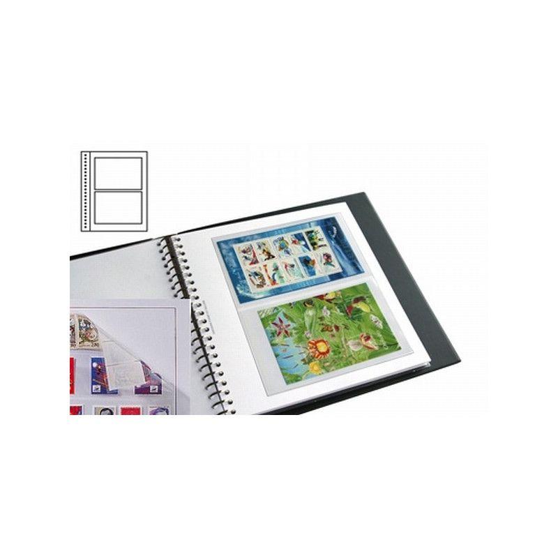 Recharges neutres Duo-Supra Yvert à 2 poches pour blocs, carnets de timbres-poste.