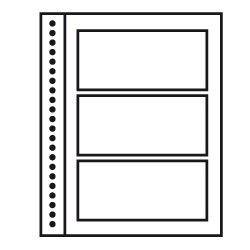 Recharges neutres Duo-Supra Yvert à 3 poches pour blocs de timbres.