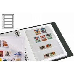 Recharges neutres Duo-Supra Yvert à 4 bandes pour timbres-poste.