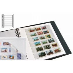 Recharges neutres Duo-Supra Yvert à 6 bandes pour timbres-poste.