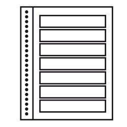 Recharges neutres Duo-Supra Yvert à 7 bandes pour timbres-poste.
