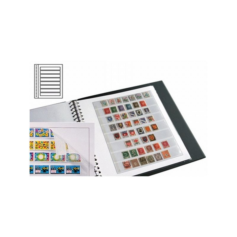 Recharges neutres Duo-Supra Yvert à 8 bandes pour timbres-poste.