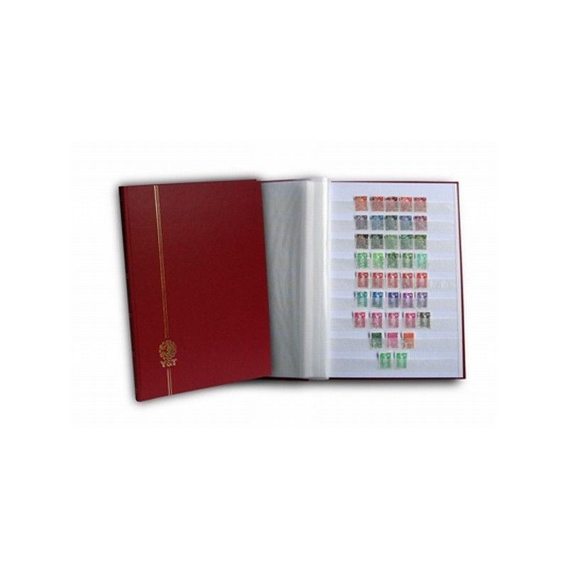 Classeur Perfecta grand modèle 32 pages blanches pour timbres-poste.