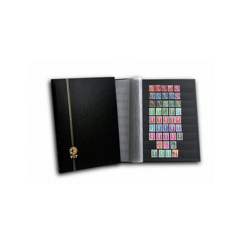 Classeur Perfecta grand modèle 48 pages noires pour timbres-poste.