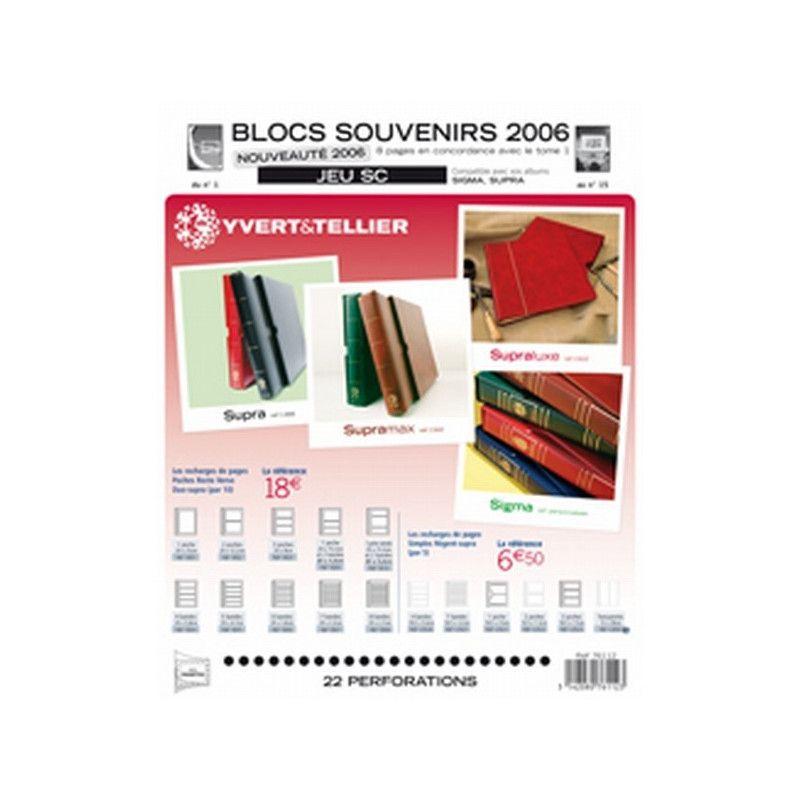 Jeux SC France blocs souvenirs 2006 avec pochettes de protection.