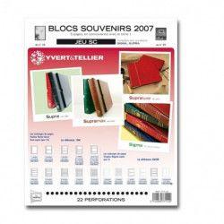 Jeux SC France blocs souvenirs 2007 avec pochettes de protection.