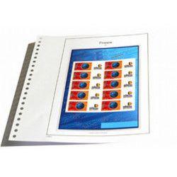 Jeux SC France timbres personnalisés 2002 avec pochettes de protection.