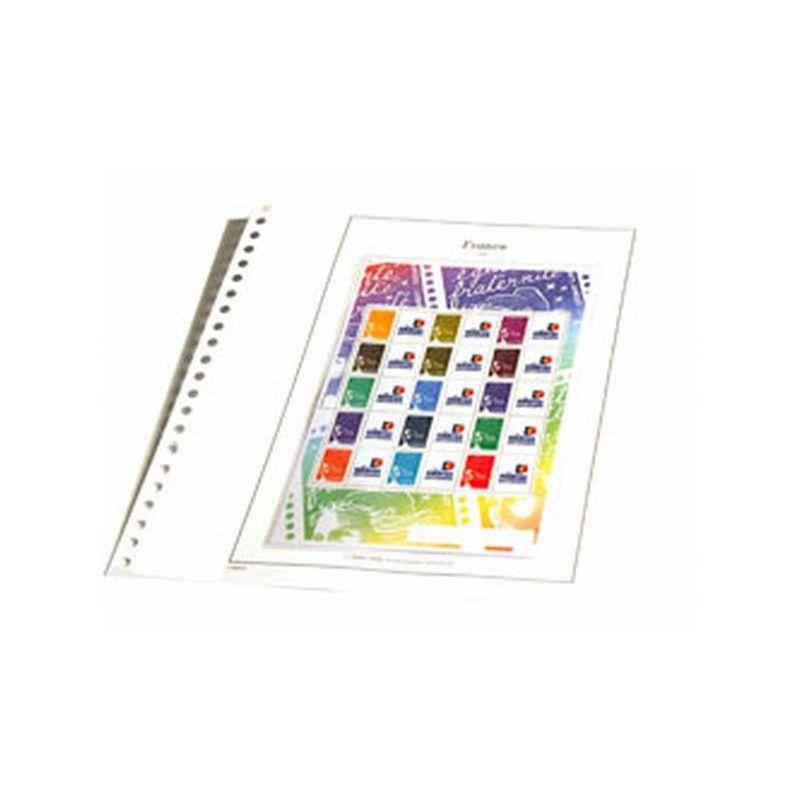 Jeux SC France timbres personnalisés 2005 avec pochettes de protection.