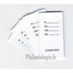 Classyvert, fiches de classement philatélique, par 1000.