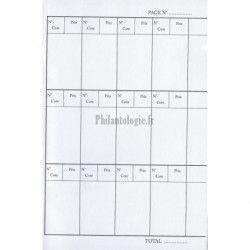 Carnet de circulation de timbres-poste pour clubs philatéliques.