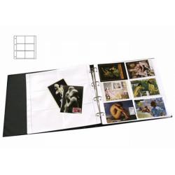 Recharges à 6 cases horizontales pour cartes postales modernes.
