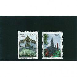 Cartes de rangement Omnia à 1 bande pour timbres-poste.