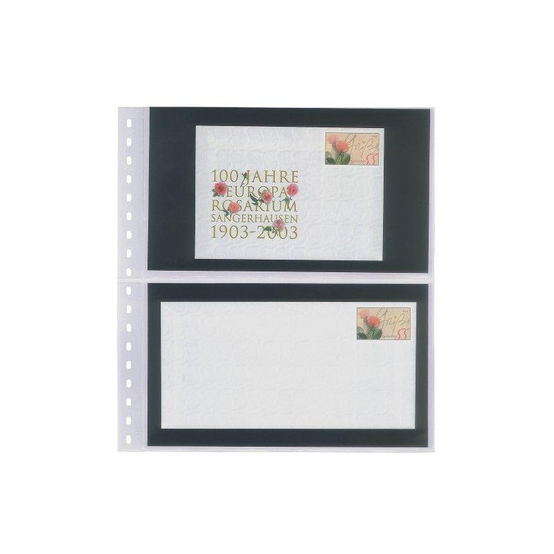 Feuilles transparentes Lindner pour entiers postaux, enveloppes. (821)