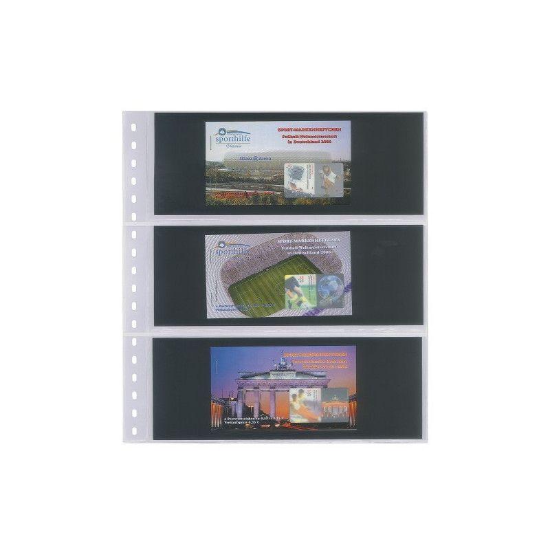 Feuilles transparentes Lindner pour carnets de timbres. (822)