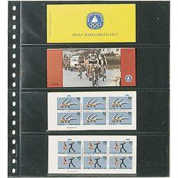 Feuilles transparentes Lindner pour carnets de timbres. (824)