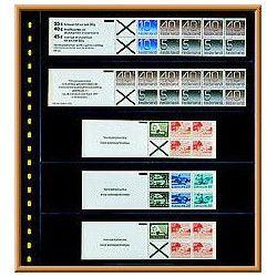 Feuilles transparentes Lindner pour carnets de timbres. (825)