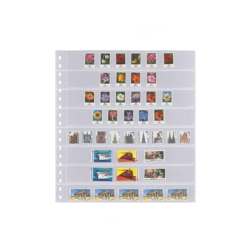 Feuilles transparentes Lindner pour timbres-poste. (828)