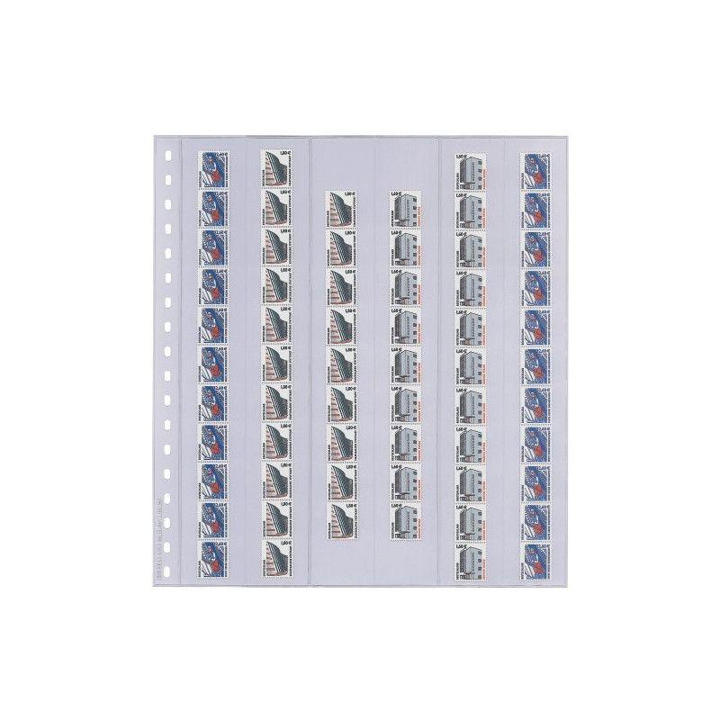 Feuilles transparentes Lindner pour roulettes de timbres. (836)