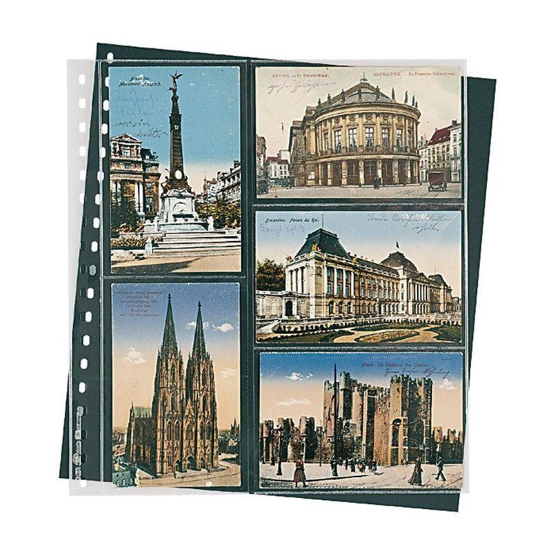 Feuilles transparentes Lindner pour cartes postales anciennes. (826)
