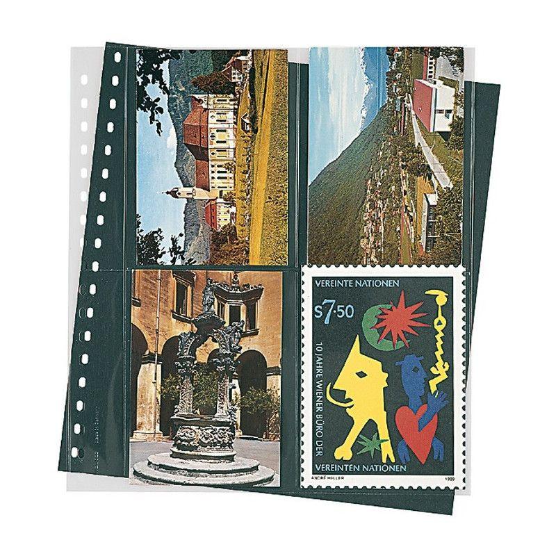 Feuilles transparentes Lindner pour cartes postales modernes. (829)
