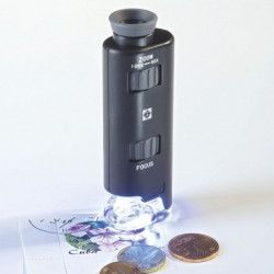 Microscope de poche lumineuse avec zoom 100x.