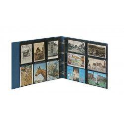 Reliure standard XL Lindner pour cartes postales.