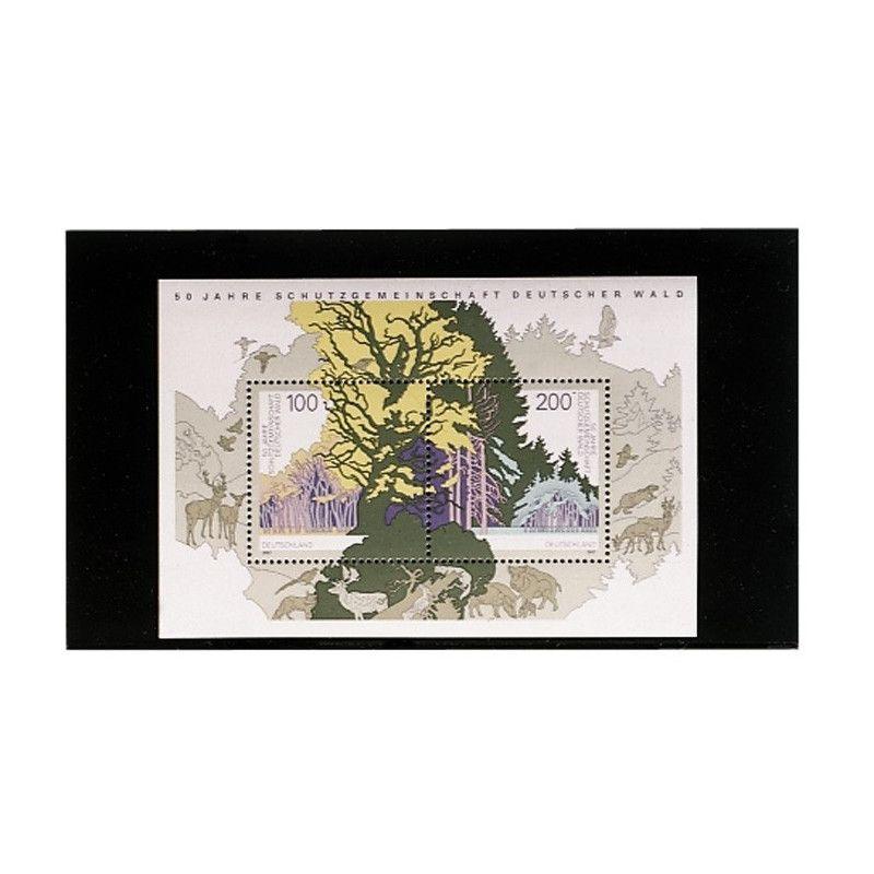 Cartes de rangement en plastique à 1 bande pour timbres-poste.