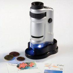 Microscope lumineuse LED, grossissement 40 fois.