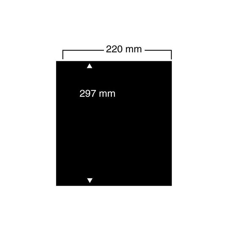 Feuilles noires compact A4 Safe à 1 bande pour grands documents.
