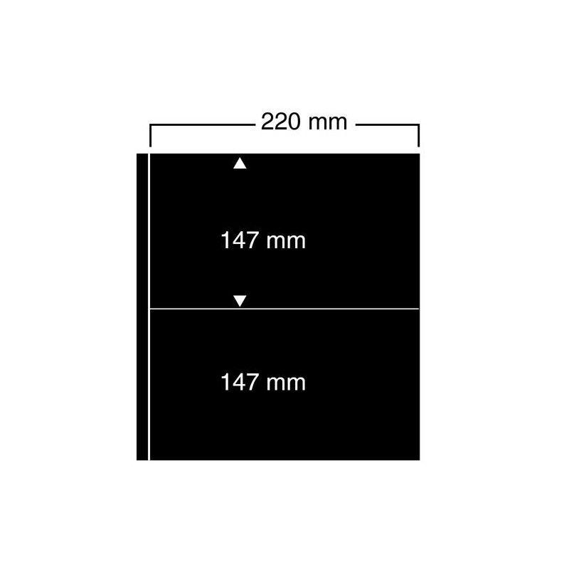 Feuilles noires compact A4 Safe à 2 bandes pour blocs-feuillets.