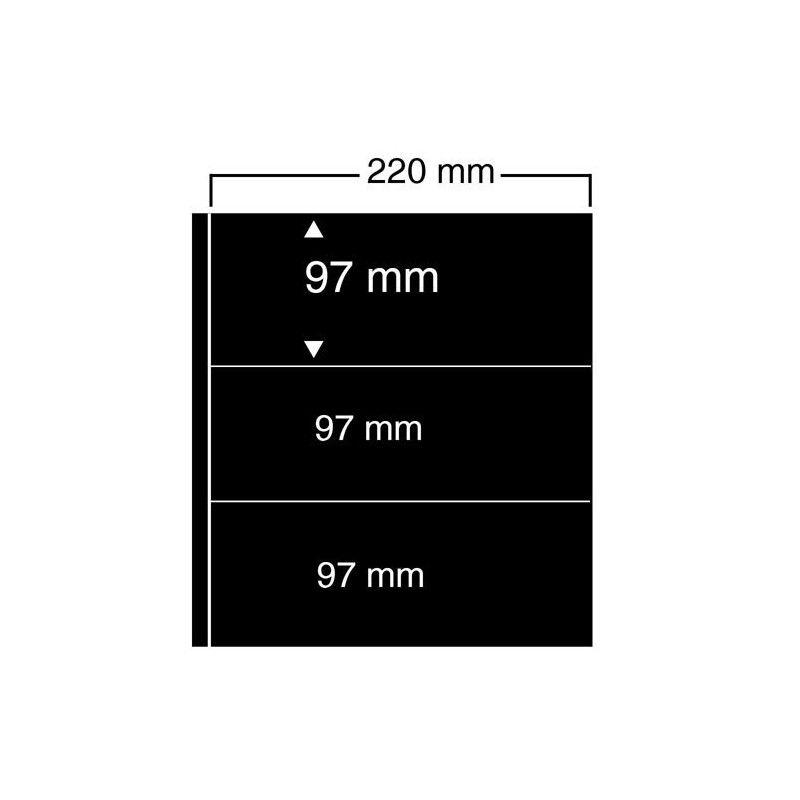 Feuilles noires compact A4 Safe à 3 bandes pour carnets.