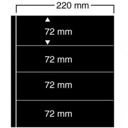 Feuilles noires compact A4 Safe à 4 bandes pour timbres-poste.
