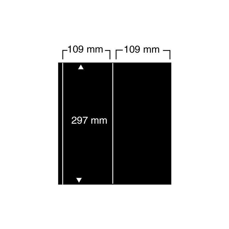 Feuilles noires compact A4  Safe  à 2 bandes verticales pour carnets.